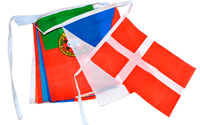 Flagguirlander Stof