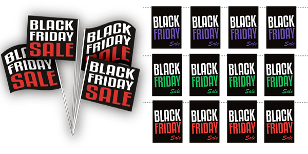 Black Friday Butiksdekoration, Black Friday flag, Black Friday skilte