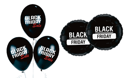Black Friday balloner, Black Friday reklameballoner