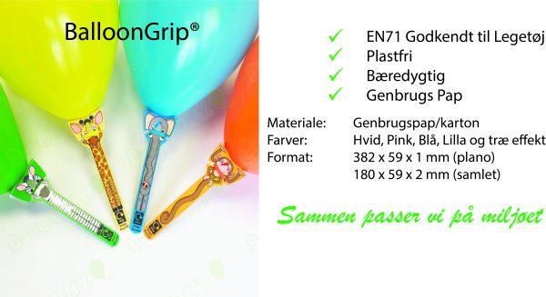 Plastfri Ballonpinde, Ballonholdere i genbrugspap, Bæredygtige Ballonpinde