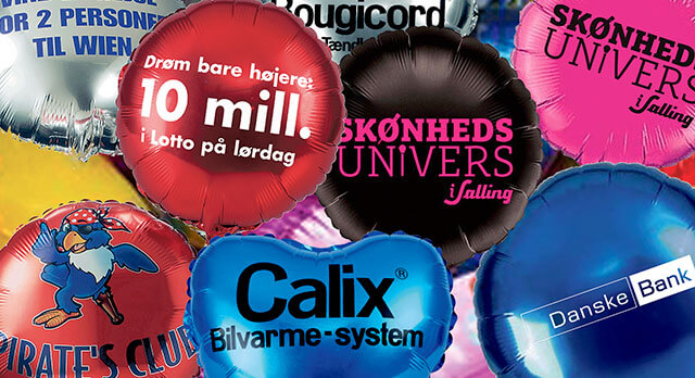 Folie balloner med reklame - logotryk