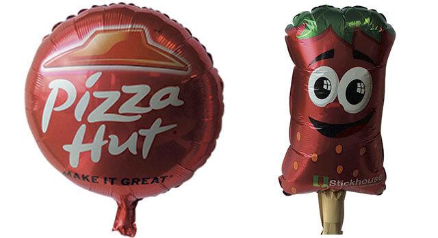Folieballoner med reklametryk i mange varianter