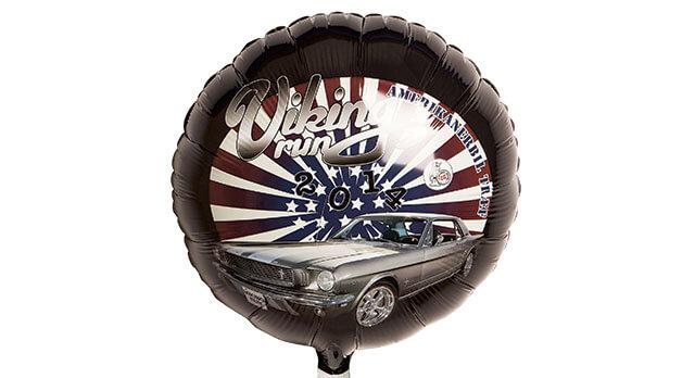 Folieballon i mange faconer med reklametryk