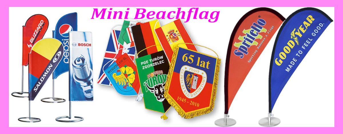 Beach flag i mange varianter