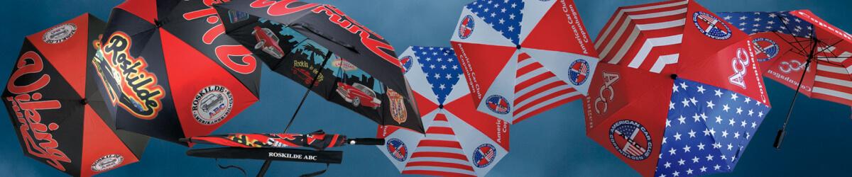 Paraplyer med reklametryk i mange størrelser bbb