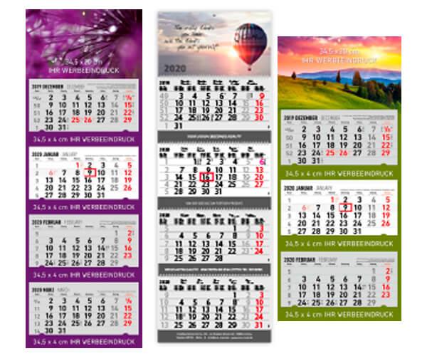 3 og 4 måneders reklame kalender