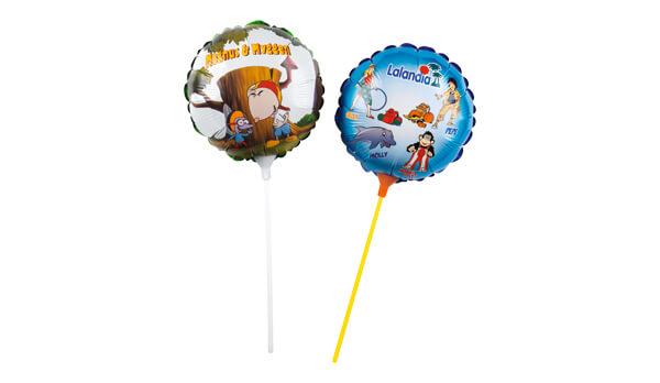 Folieballoner i mange størrelser med reklametryk