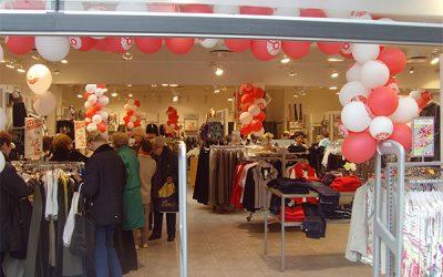 Balloner med reklametryk til butiks dekoration
