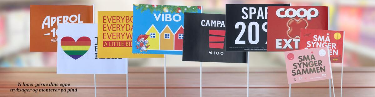 Flag med logo og reklametryk