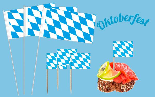 Papirflag og miniflag Bayern