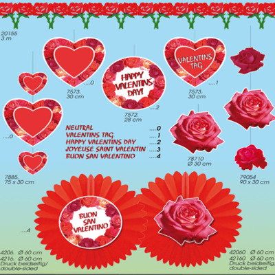Valentines papir dekoration